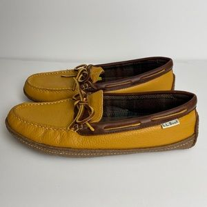 L. L. Bean Leather Hand-sewn Slippers Size 9M